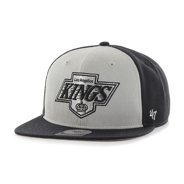 Los Angeles Kings Sure Shot Accent Captain Black 47 Brand Adjustable Hat
