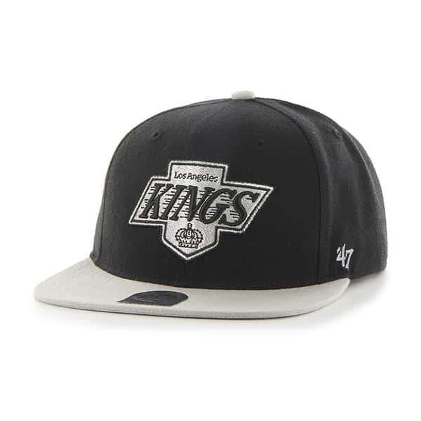 Los Angeles Kings Super Shot Two Tone Captain Black 47 Brand Adjustable Hat