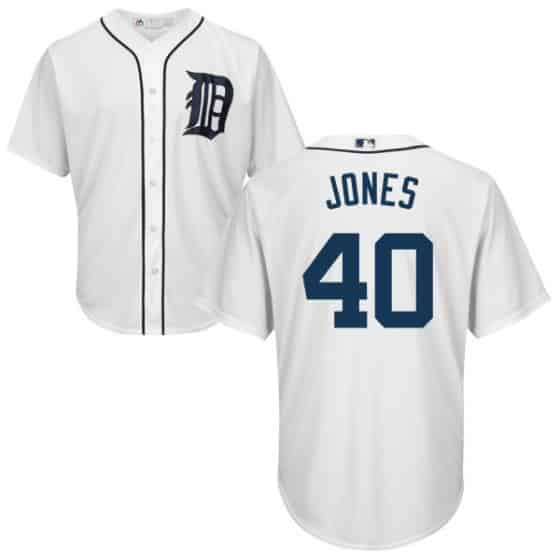 JaCoby Jones Detroit Tigers Cool Base Replica Home Jersey