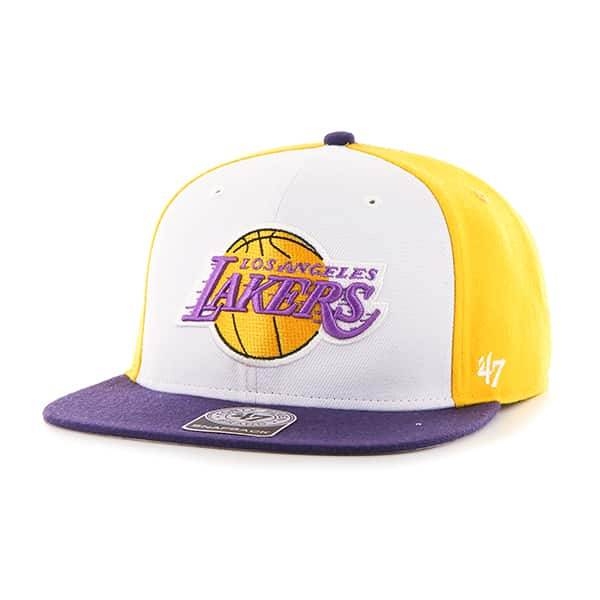 Los Angeles Lakers Amble Captain Purple 47 Brand Adjustable Hat