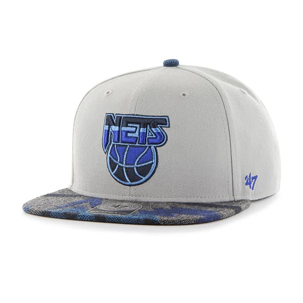 Brooklyn Nets Anteater Captain Gray 47 Brand Adjustable Hat