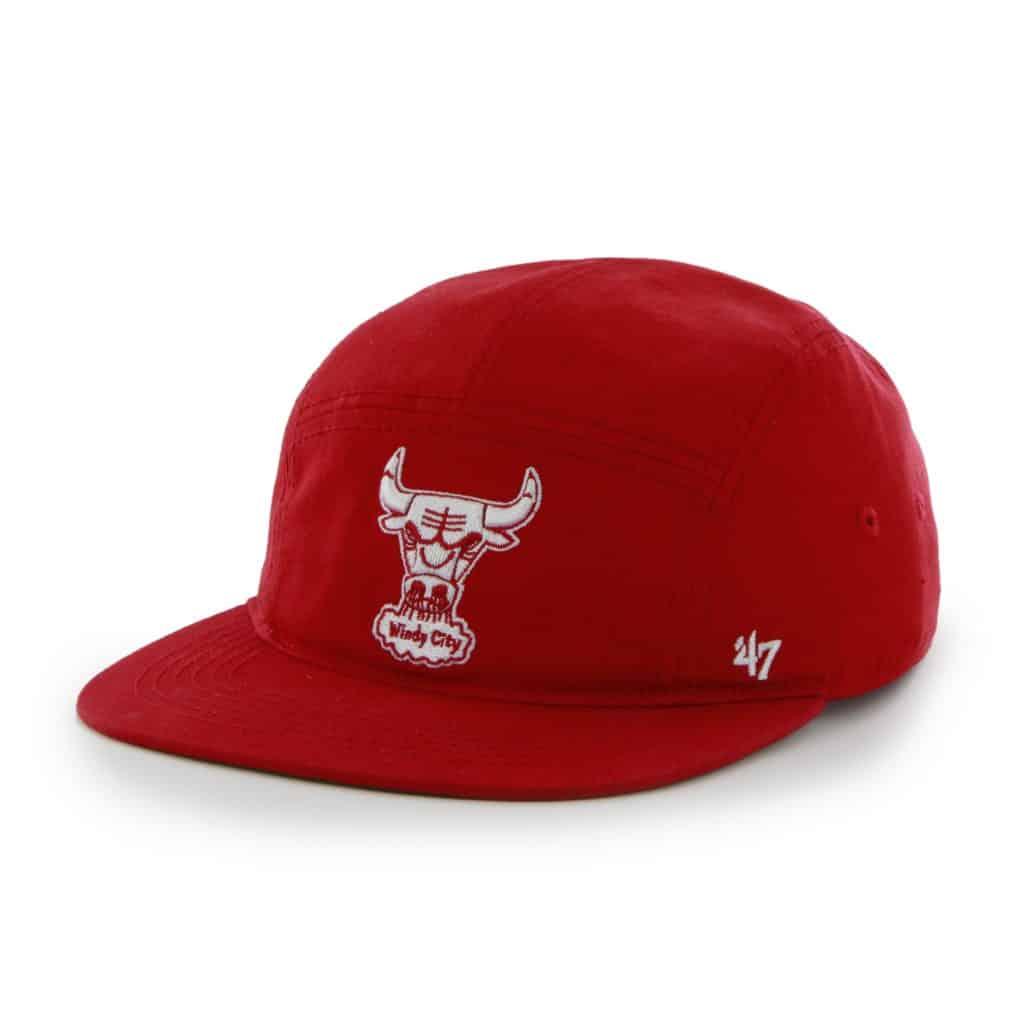 Chicago Bulls Bergen 5 Panel Coke Red 47 Brand Adjustable Hat