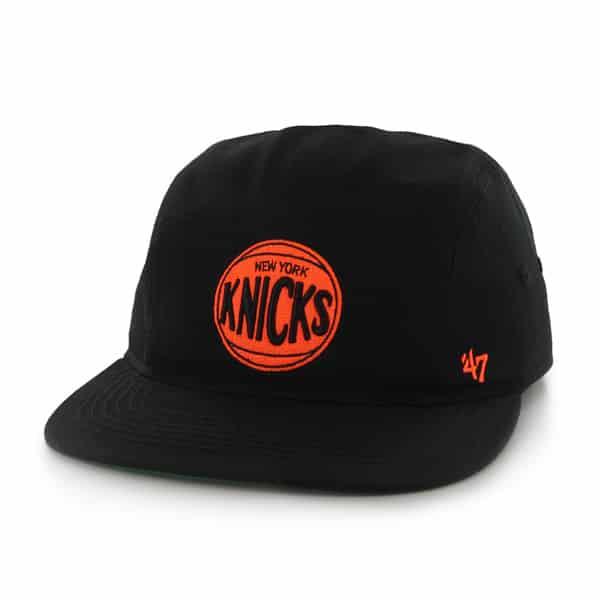 New York Knicks Bergen 5 Panel Black 47 Brand Adjustable Hat - Detroit Game  Gear d8de7c70ca9