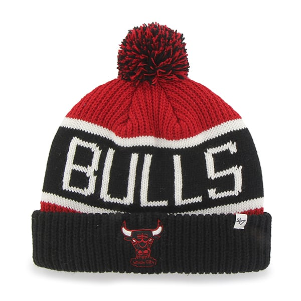 Chicago Bulls Calgary Cuff Knit Red 47 Brand YOUTH Hat