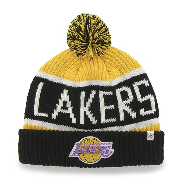 Los Angeles Lakers Calgary Cuff Knit Yellow Gold 47 Brand YOUTH Hat