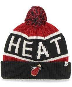 Miami Heat Calgary Cuff Knit Red 47 Brand YOUTH Hat