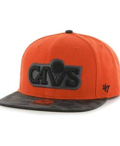 Cleveland Cavaliers Countershot Captain Orange 47 Brand Adjustable Hat