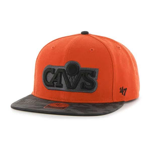 Cleveland Cavaliers Countershot Captain Orange 47 Brand Adjustable Hat