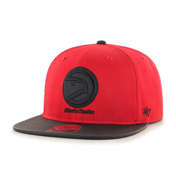 Atlanta Hawks Delancey Captain Red 47 Brand YOUTH Hat