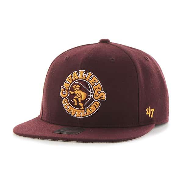 Cleveland Cavaliers Fulton Captain Dark Maroon 47 Brand Adjustable Hat