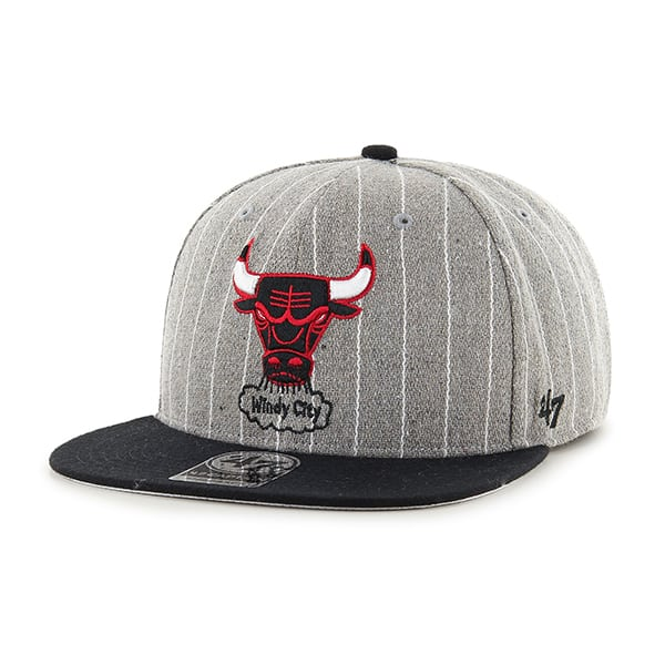 Chicago Bulls Holbrook Captain Gray 47 Brand Adjustable Hat