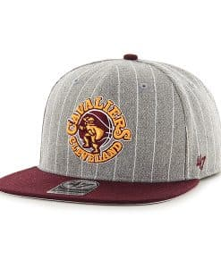 Cleveland Cavaliers Holbrook Captain Gray 47 Brand Adjustable Hat
