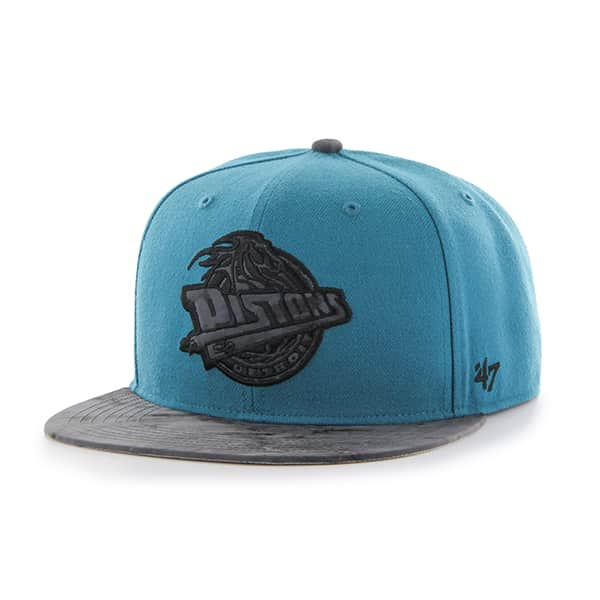 Detroit Pistons Moon Shot Captain Dark Teal 47 Brand Adjustable Hat