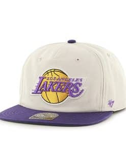 Los Angeles Lakers Marvin Captain Rf Natural 47 Brand Adjustable Hat