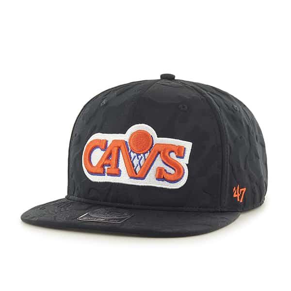 Cleveland Cavaliers M Twenty Nine Captain Black 47 Brand Adjustable Hat