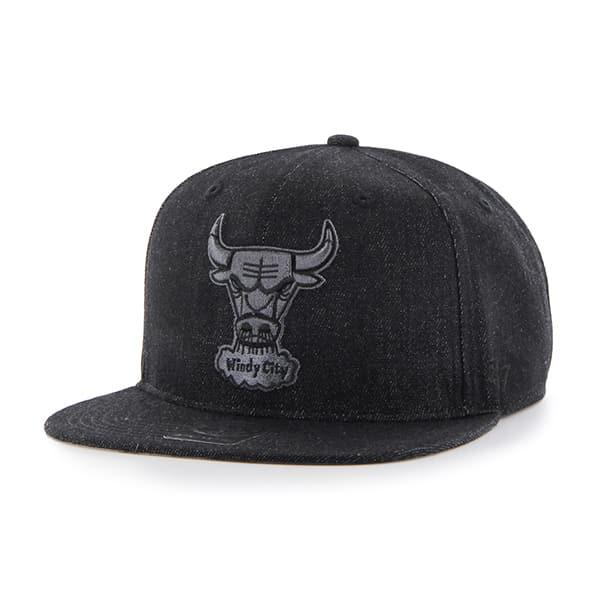 Chicago Bulls Nero Captain Black 47 Brand Adjustable Hat