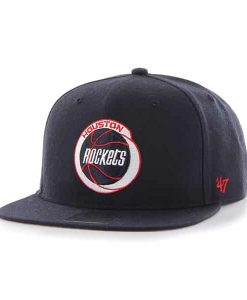 Houston Rockets No Shot Captain Navy 47 Brand Adjustable Hat