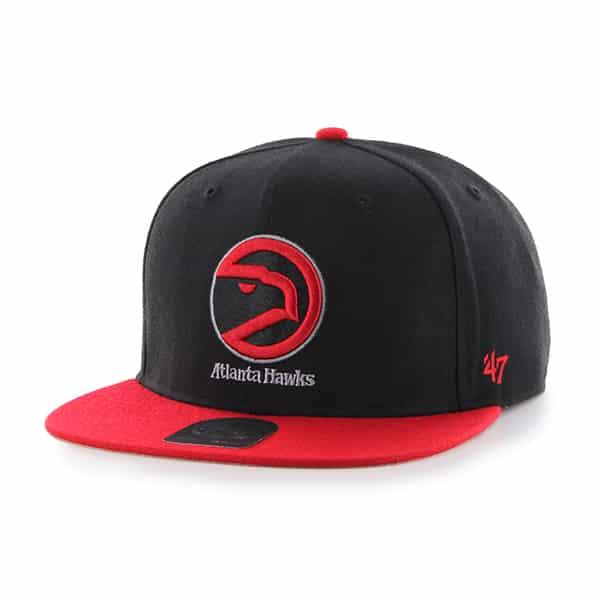 Atlanta Hawks No Shot Two Tone Captain Black 47 Brand Adjustable Hat