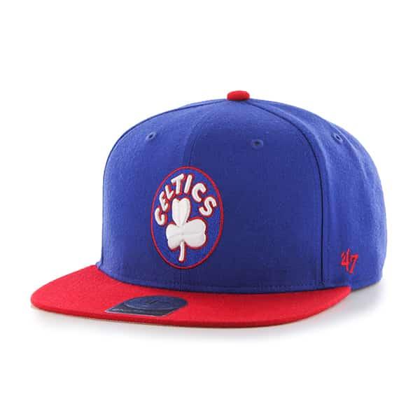 Boston Celtics No Shot Two Tone Captain Royal 47 Brand Adjustable Hat