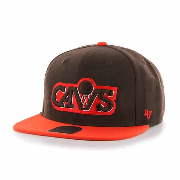 Cleveland Cavaliers No Shot Two Tone Captain Brown 47 Brand Adjustable Hat