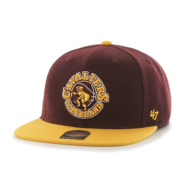 Cleveland Cavaliers No Shot Two Tone Captain Dark Maroon 47 Brand YOUTH Hat