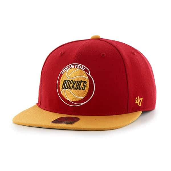 Houston Rockets No Shot Two Tone Captain Red 47 Brand YOUTH Hat