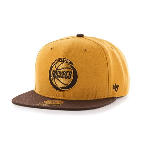 Houston Rockets No Shot Two Tone Captain Wheat 47 Brand Adjustable Hat