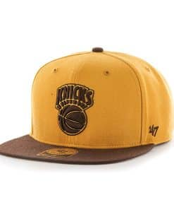 New York Knicks No Shot Two Tone Captain Wheat 47 Brand Adjustable Hat
