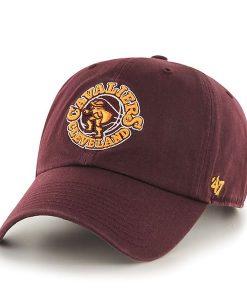 Cleveland Cavaliers Clean Up Dark Maroon 47 Brand Adjustable Hat