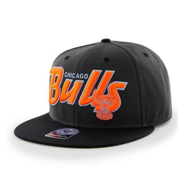 Chicago Bulls Retroscript Logo Charcoal 47 Brand Adjustable Hat