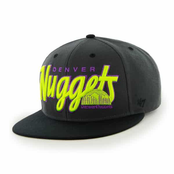 Denver Nuggets Retroscript Logo Charcoal 47 Brand Adjustable Hat
