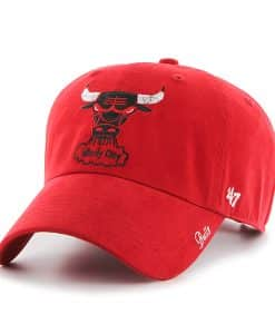 Chicago Bulls Sparkle Team Color Clean Up Red 47 Brand Womens Hat