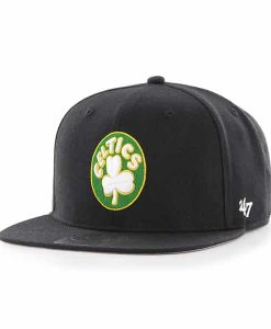 Boston Celtics Sure Shot Black 47 Brand Adjustable Hat