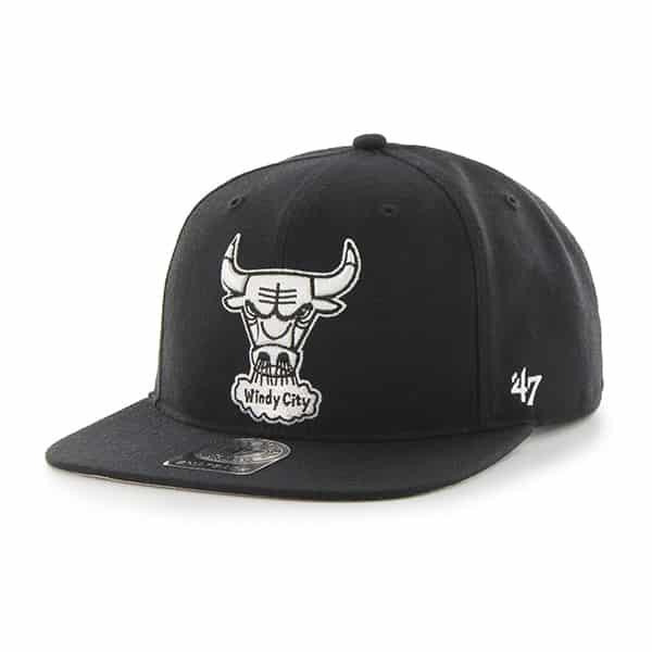 Chicago Bulls Sure Shot Black 47 Brand Adjustable Hat