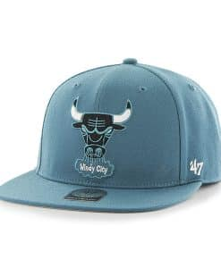 Chicago Bulls Sure Shot Dark Teal 47 Brand Adjustable Hat