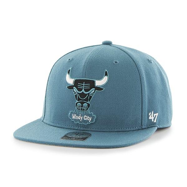 Chicago Bulls Sure Shot Dark Teal 47 Brand Adjustable Hat