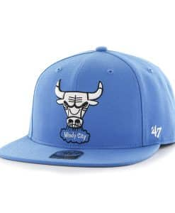 Chicago Bulls Sure Shot Glacier Blue 47 Brand Adjustable Hat