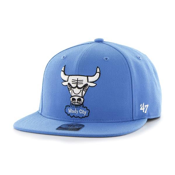 Chicago Bulls Sure Shot Glacier Blue 47 Brand Adjustable Hat