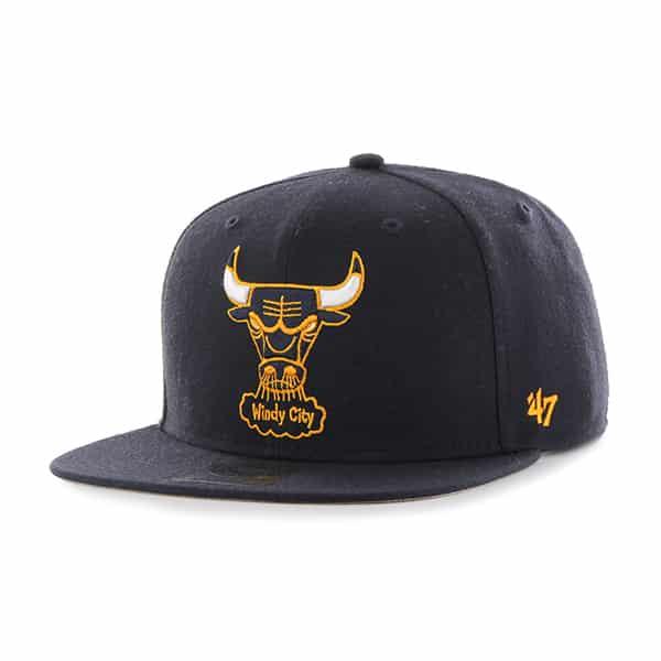 Chicago Bulls Sure Shot Navy 47 Brand Adjustable Hat