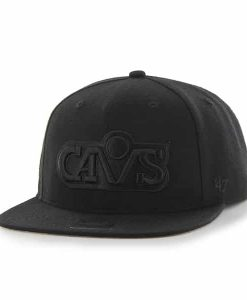 Cleveland Cavaliers Sure Shot Black 47 Brand Adjustable Hat