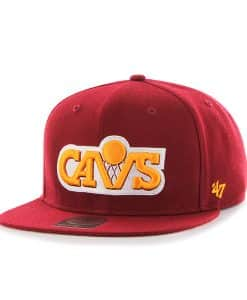 Cleveland Cavaliers Sure Shot Cardinal 47 Brand Adjustable Hat