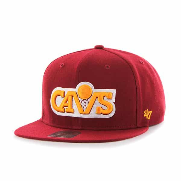 Cleveland Cavaliers Sure Shot Cardinal 47 Brand Adjustable Hat