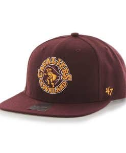 Cleveland Cavaliers Sure Shot Dark Maroon 47 Brand Adjustable Hat
