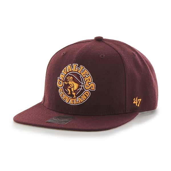 Cleveland Cavaliers Sure Shot Dark Maroon 47 Brand Adjustable Hat