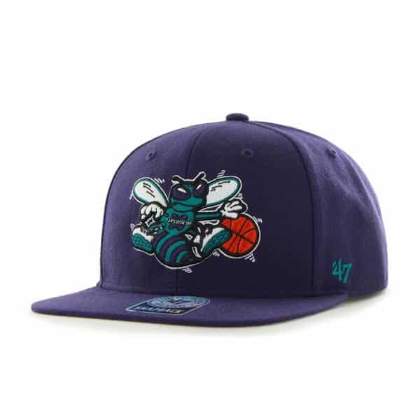 New Orleans Pelicans Sure Shot Purple 47 Brand Adjustable Hat