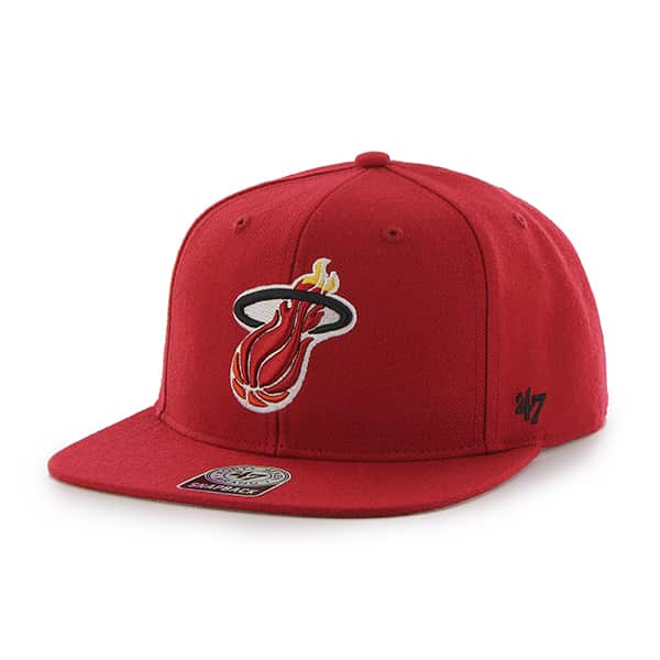 Miami Heat Sure Shot Red 47 Brand Adjustable Hat