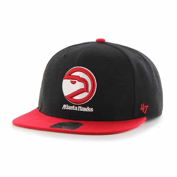 Atlanta Hawks Sure Shot Two Tone Captain Black 47 Brand Adjustable Hat