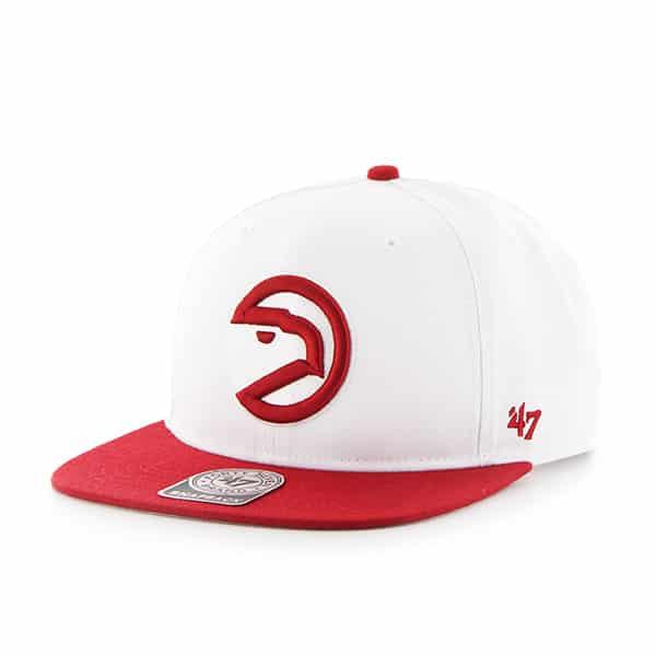 Atlanta Hawks Sure Shot Two Tone Captain White 47 Brand Adjustable Hat