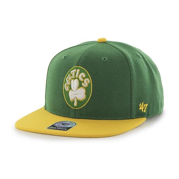 Boston Celtics Sure Shot Two Tone Captain Kelly 47 Brand Adjustable Hat