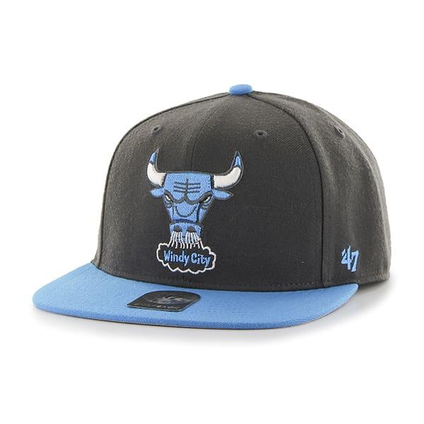 Chicago Bulls Sure Shot Two Tone Captain Charcoal 47 Brand Adjustable Hat